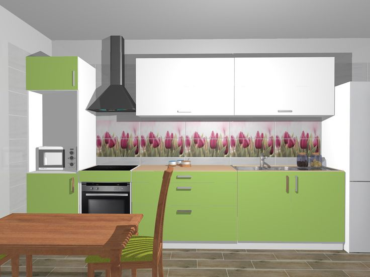 Model de design pentru bucatarie cu gresie, faianta si decoruri din colectia Arco. Mai multe idei de amenajare pe site: www.castilio.ro