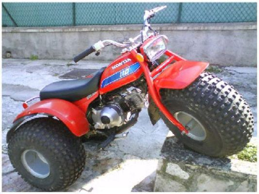 Honda 110 ATC. This One We Had In Red And Blue. Mine Was Red