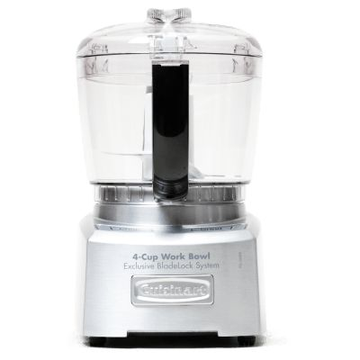Cuisinart Elite Collection 4-Cup Chopper/Grinder (Model # CH-4DC) -  Winner, Highly Recommended. This processor had a sharp blade with great coverage. It turned out crisply cut vegetables and nuts and fluffy parsley. Its strong motor blended hummus and pesto with minimal scraping, and its small feeding tube allowed us to slowly add oil for fantastic mayonnaise. https://www.amazon.com/dp/B002IA0PH8/?tag=cioequippilot-20