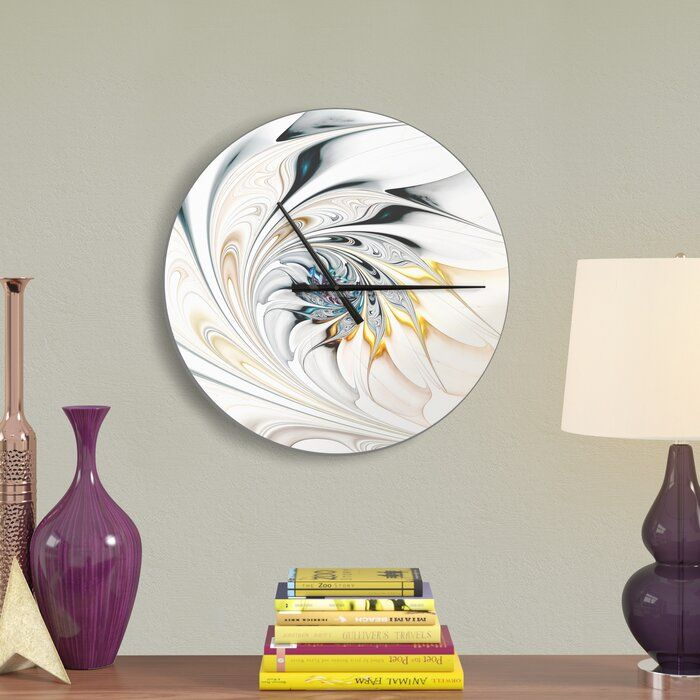 Stained Glass Floral Art Wall Clock Floral Wall Clocks Wall Clock Wall Clock Modern