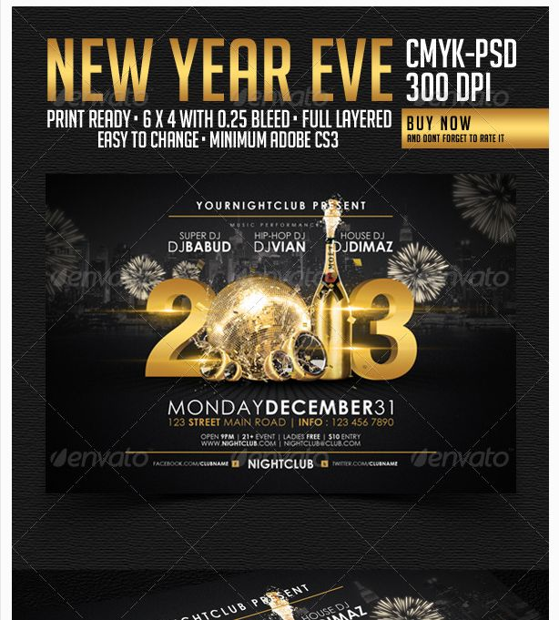 26 best New Year Flyer Template images on Pinterest Party flyer - football flyer template