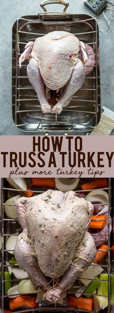 How to truss a turkey | How to prepare a turkey | How to tie a Turkey | Turkey Tips | Tips for first time hosting thanksgiving | How to make a turkey #turkeytips #thanksgivingrecipe #turkeyrecipes #thanksgivingideas | Fox and Briar