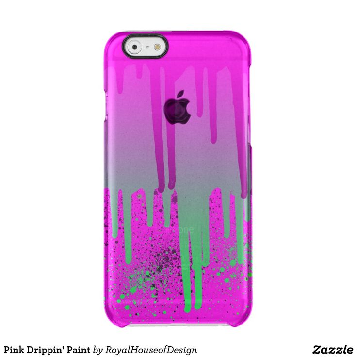 Pink Drippin' Paint Uncommon Clearly™ Deflector iPhone 6 Case