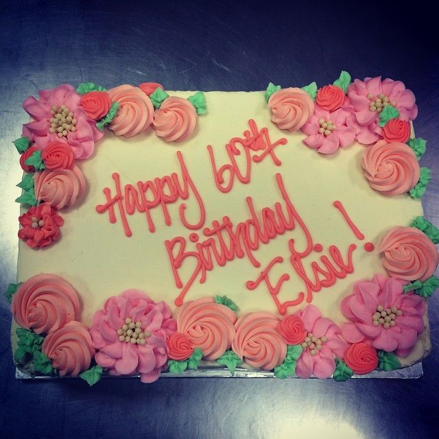 Cake Designs Ideas paris cake ideas Pretty Sheet Cake From The Weekend Cakestandbakery Buttercream Flowers Happybirthday