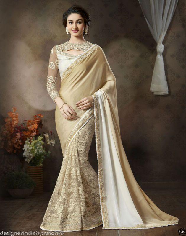 sarees wedding designer bollywood saree ethnic Indian bridal wear saris blouse