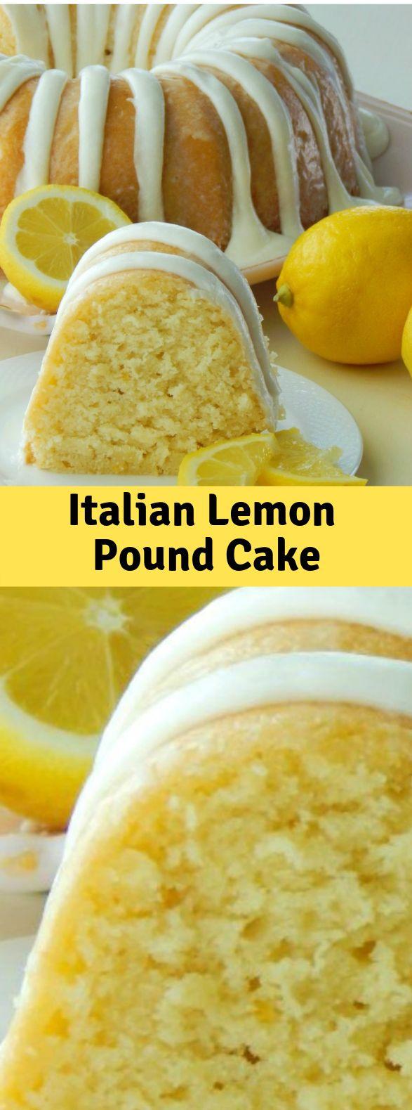 Italienischer Zitronen-Pfund-Kuchen #Lemon #Dessert   – Food&Drinks