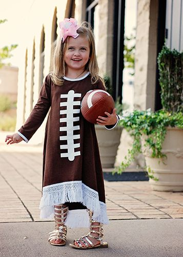 The Hair Bow Company | High-Low Fringed Football Dress for Girls