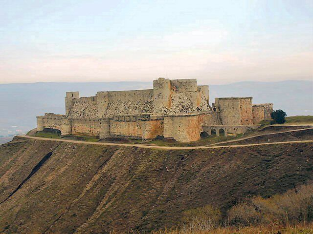 Krak des Chevaliers. Siria. Castello dei Crociati