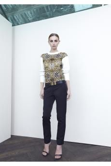 Concentric Knit Pullover and Gilded Trouser by CAMILLA AND MARC