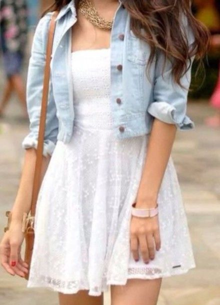 Dress: white lace textured cream spring casual cute summer picnic knee length small holes polka dots - Total Street Style Looks And Fashion Outfit Ideas