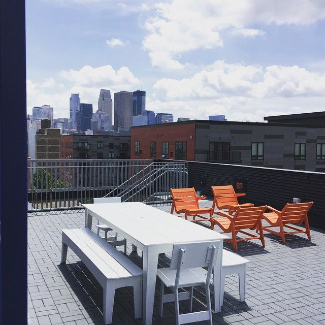 Rooftop Patio With Loll Designs Modern Outdoor Furniture At Fast Company In  Minneapolis, MN.