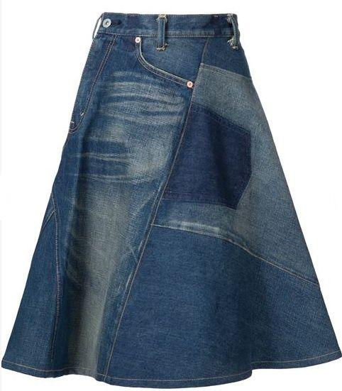 Как уменьшить размер джинсовой юбки