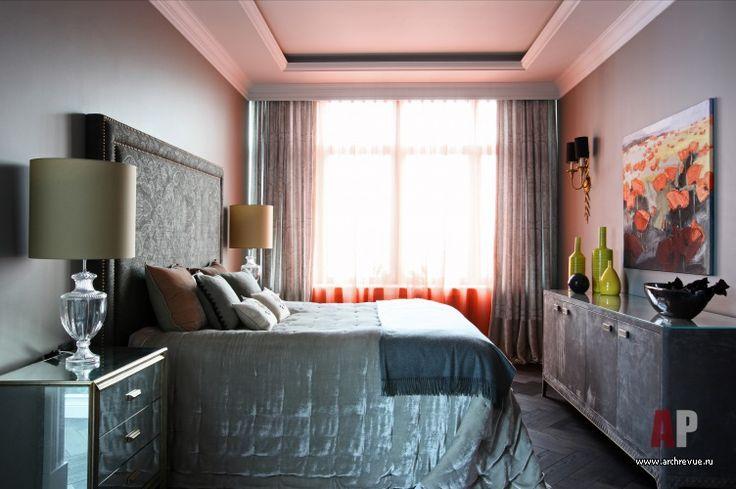Фото интерьера спальни квартиры в стиле фьюжн
