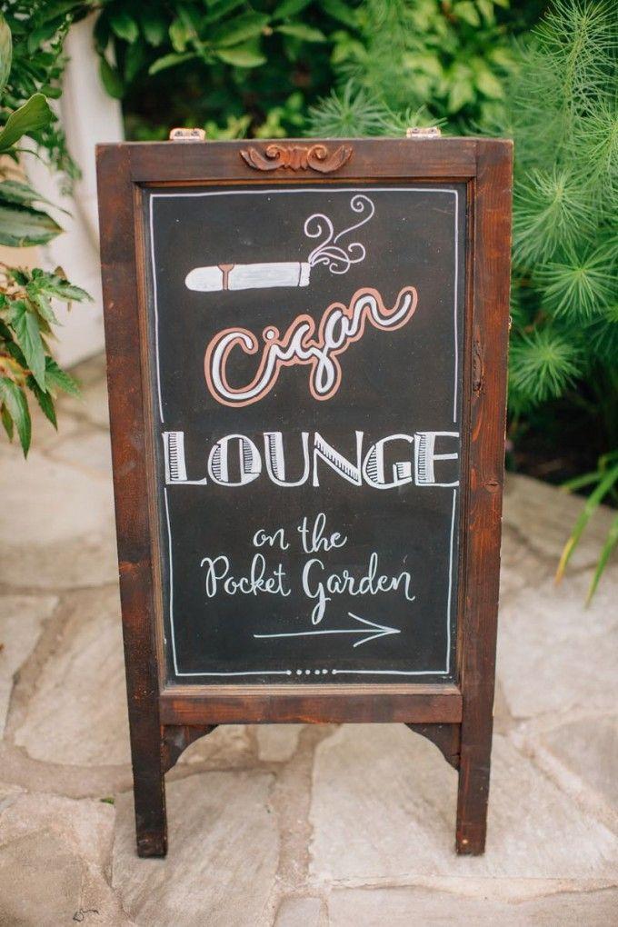 This way to the cigar lounge #cedarwoodweddings Softly Lit Outdoor Wedding :: Elizabeth+Charlie | Cedarwood Weddings