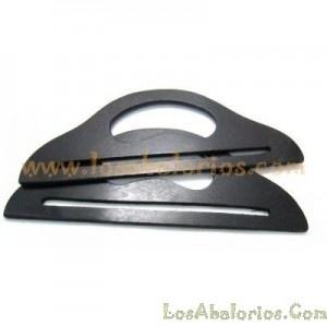 Asa madera negra  www.losabalorios.com/175-asas-para-bolsos