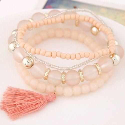 Pulseras 2017 Fashion Bracelets for Women Men Jewelry Fashion Resin Bead Charm Bracelets Bangles Pulseira Masculina Bijoux Femme