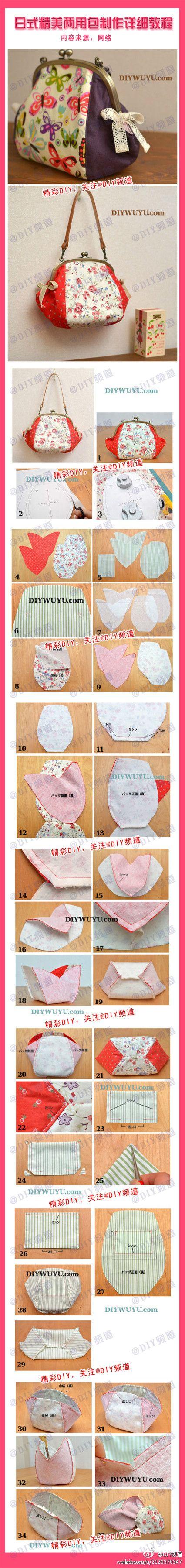 sewn clutch purse