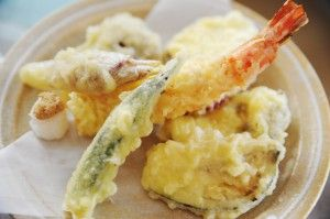 Tempura recipe.potato flour and apflour
