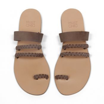 all time classic…''alyssa plait'' coffee the Most Chic Sandals collection
