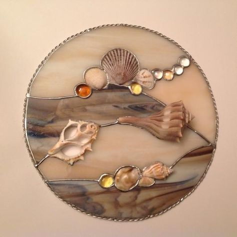 stained glass & shells