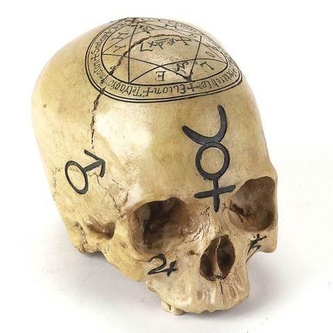 Qabalistic - Black Alchemy Skull