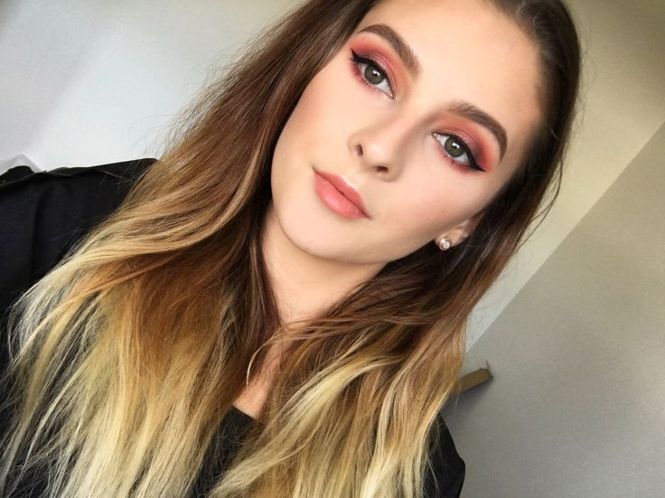 Pink and red glam makeup
