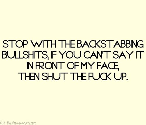 Backstabbing Friend Quotes Quotesgram