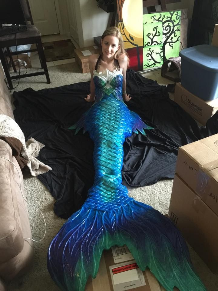 DIY Silicone Mermaid Tail from Instructables.