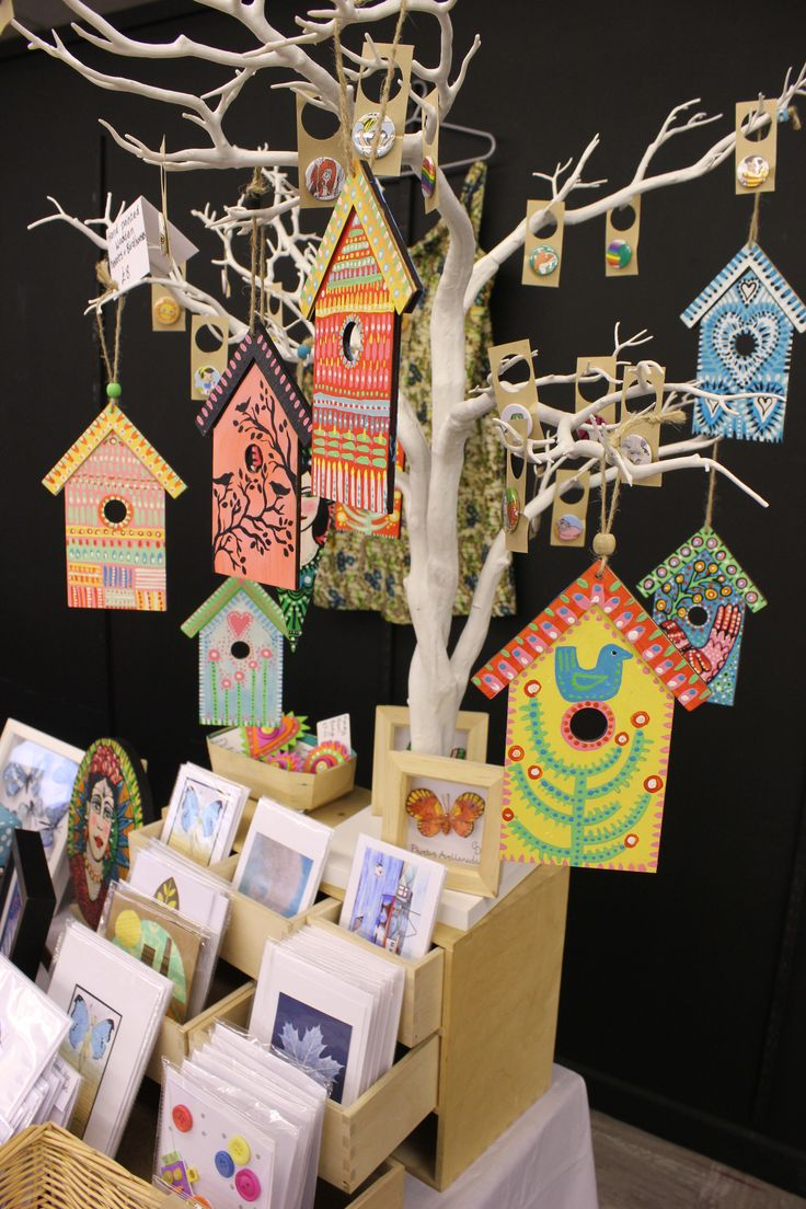 Three Seas Art and Craft Stall, Lancashire. The tree came from HobbyCraft and is much sturdier than anything I would have built!