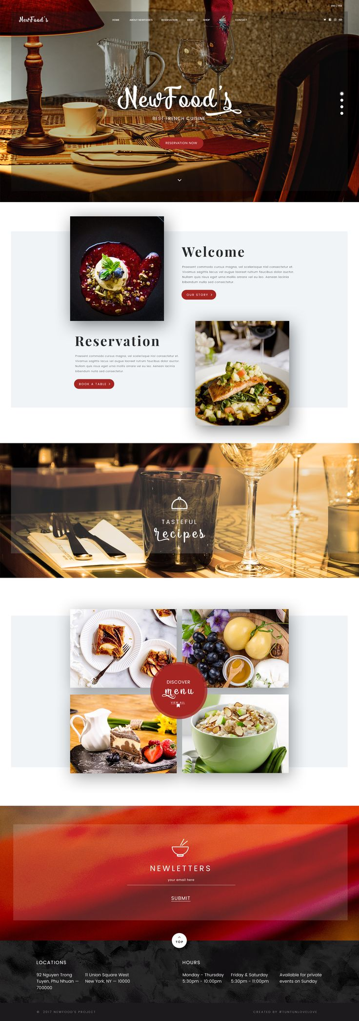 NewFood's | is a daring PSD Template build to help restaurant and other culinary owners to shape an experience that people love and remember. It gives enough freedom to make it your own by tailoring to a specific set of bold needs and preferences.  #cake #clean #creative #customizable, flexible #food #luxury #minimal #modern #onlinestore #professional #responsive #restaurant #service #website #interface