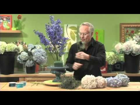 How to Arrange Flowers- Create a Hydrangea Arrangement! - YouTube