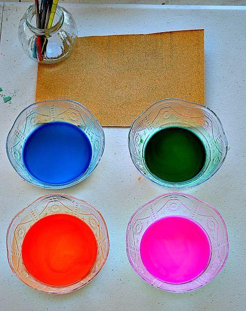 sandpaper and liquid chalk art