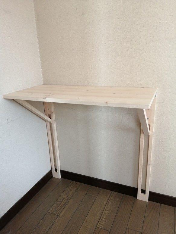 壁付け折りたたみテーブル 主婦作業台 子供学習机 受注制作 家具デザイン インテリア 家具 インテリア センス
