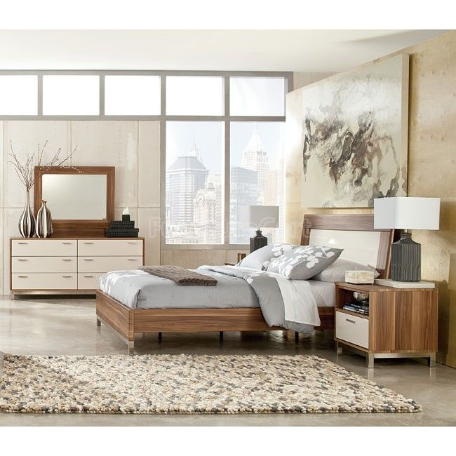 Candiac Bedroom Set W Panel Bed Metro Modern By Ashley