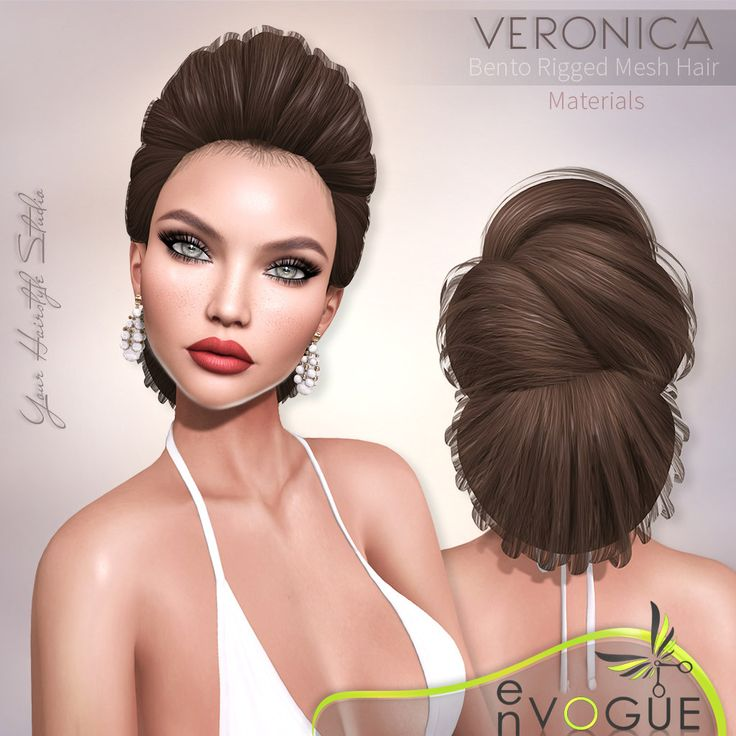 https://flic.kr/p/TFMftS | ● ❤️ ● enVOGUE - VERONICA Hair - Bento ● ❤️ ● | ═ NEW RELEASE in Mainstore! ═  VERONICA Hair - BENTO Rigged Mesh - with Materials Option!!!  This hairstyle is available in 96 colors, root & 16 OMBRE colors, and can be changed via HUD.  BLOG : envogue-hairstyle-studio.blogspot.com/2017/05/veronica.html  Try DEMO from MKP :https://marketplace.secondlife.com/p/enVOGUE-HAIR-Veronica-DEMO/11789916  Take Limo : maps.secondlife.com/secondlife/enVOGUE/32/168/24  E N J O Y