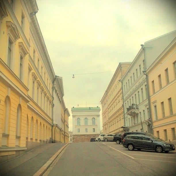 Pastel colors in old downtown Helsinki