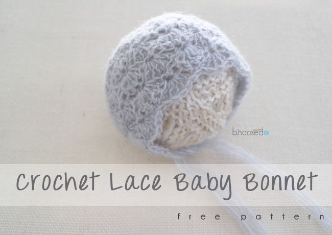 Crochet Baby Bonnet - Free Pattern - B.hooked Crochet  cacb87a1bb47