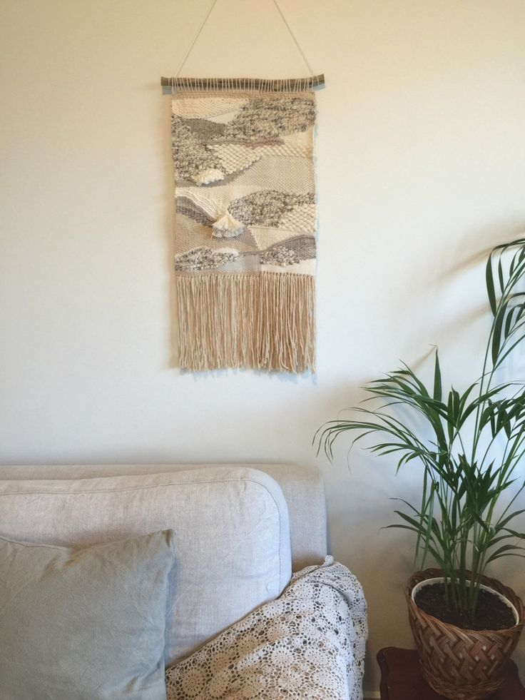 Woven wall hanging by Swaysmade on Etsy https://www.etsy.com/au/listing/460026980/woven-wall-hanging