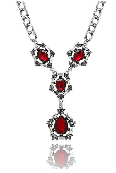 Timeless Petite Red Necklace available at www.stellanemiro.com