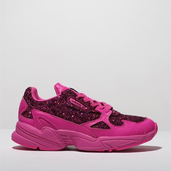 womens pink adidas falcon trainers