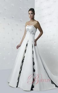 celtic wedding dress - a-line strapless