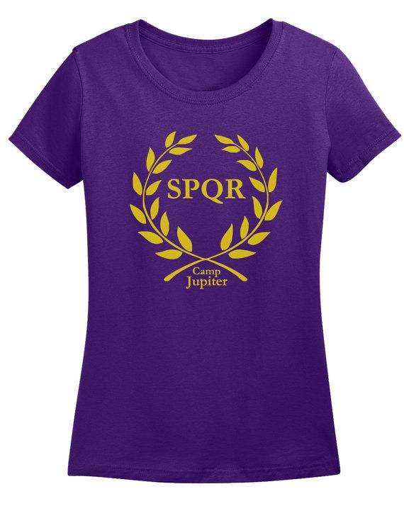 Ladies Camp Jupiter SPQR Purple T shirt by SwaggeNation on Etsy, $14.99
