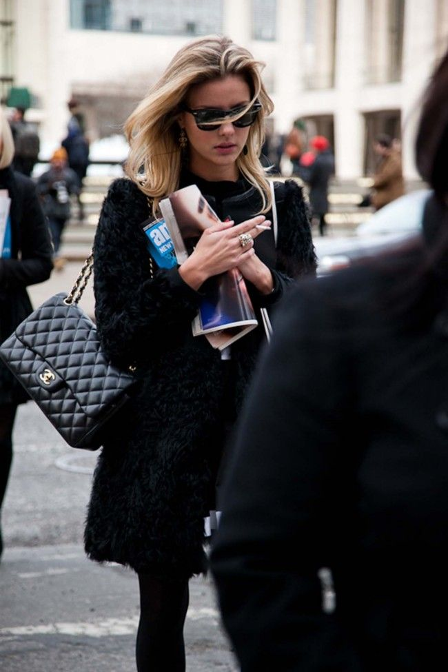 Quilted Chanel, fluffy coat.