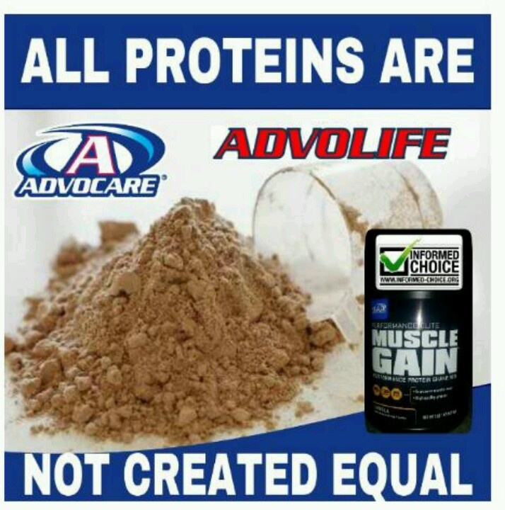 Advocare muscle gain. Another product by advocare given the informed choice check.