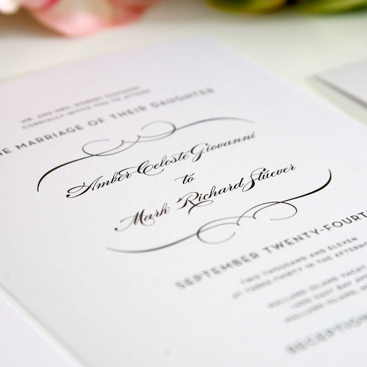 11 best Traditional Wedding Invitations images on Pinterest - best of wedding invitation samples text