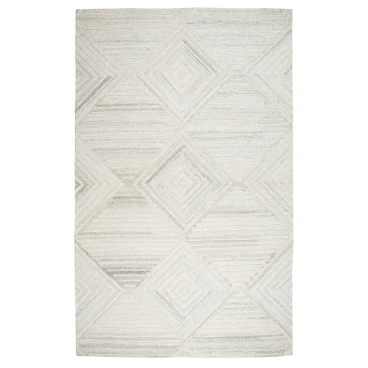Geometric/Solid Rug - Ivory - (10'X13') - Rizzy Home