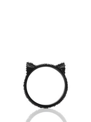 jazz things up pave cat ear ring - Kate Spade New York