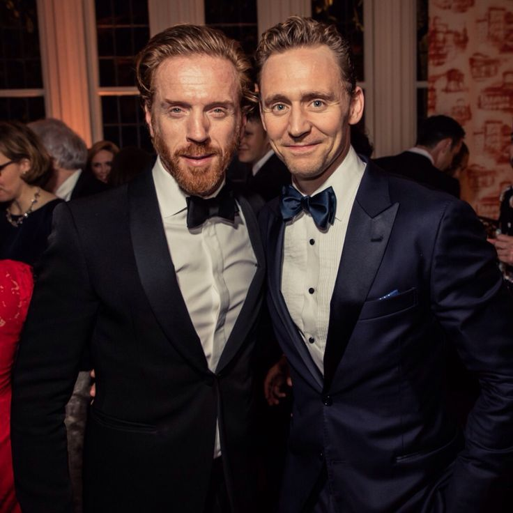 Damian Lewis and Tom Hiddleston at the Vanity Fair after party for the WHCD 2016.