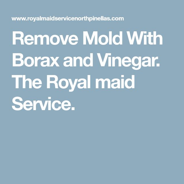 Remove Mold With Borax and Vinegar. The Royal maid Service.