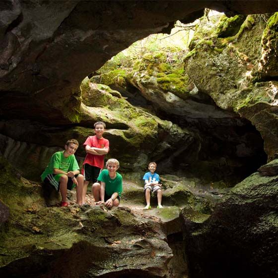Lusk Caves | Looking for a little excitement and adventure? Brave kids will love Lusk Cave, located on the perimeter of Lac Phillippe in Gatineau Park. Make a day of it and drive out to the park, then hike up to the cave (a longer walk that is steep in parts). The reward is worth it, though—a rushing water stream carving a path through some pretty cool caves, all yours to explore. Camping is also available nearby in one of the cleanest, most family-friendly spots in the Ottawa area.